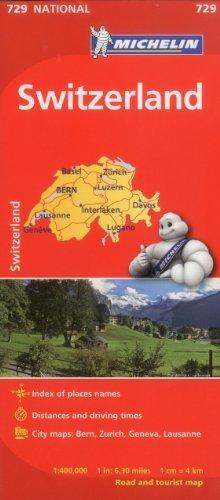 Michelin Switzerland Map 729 (Maps/State (Michelin)) - michelin switzerland map 729 mapscountry michelin