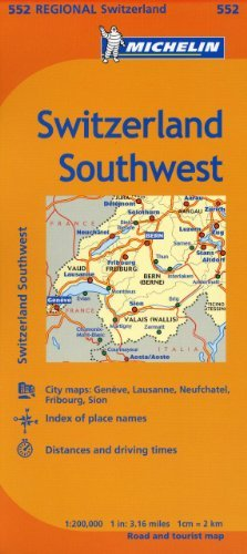 Michelin Switzerland: Southwest Map 552 (Maps/Regional (Michelin)) - michelin switzerland southwest map 552 mapsregional michelin