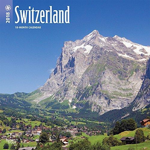 Switzerland 2018 twelve x twelve Inch Regular Square Wall Calendar, Scenic Tra... - switzerland 2018 12 x 12 inch monthly square wall calendar scenic tra