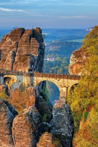 Bastei Bridge Saxon Switzerland Journal: 150 lined pages, softcover, 6... - Bastei Bridge Saxon Switzerland Journal 150 lined pages softcover 6
