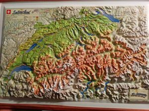 Raised Relief 3D Map of Switzerland - Raised Relief 3D Map of Switzerland 300x225