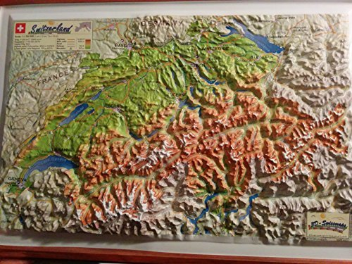 Raised Relief 3D Map of Switzerland - Raised Relief 3D Map of Switzerland