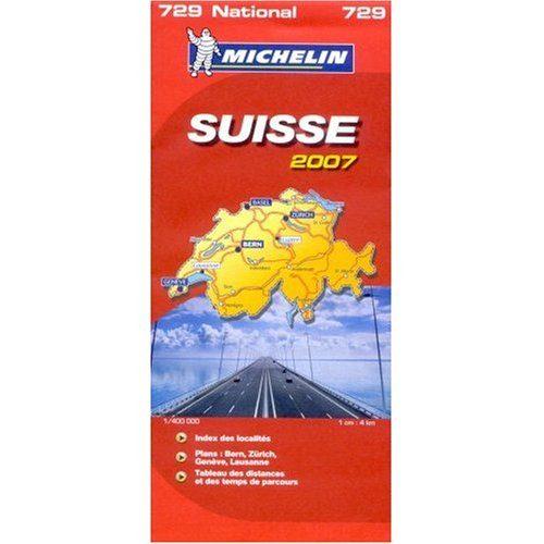 Michelin Map No. 729 Switzerland, Scale 1:400,000 (Michelin Guides) - Michelin Map No. 729 Switzerland Scale 1400000 Michelin Guides