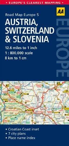 Road Map Austria, Switzerland & Slovenia (Road Map Europe ...