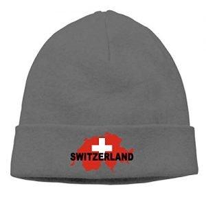 BBlooobow Men Women Switzerland Flag Map Soft Beanie Hat - BBlooobow Men Women Switzerland Flag Map Soft Beanie Hat 300x300
