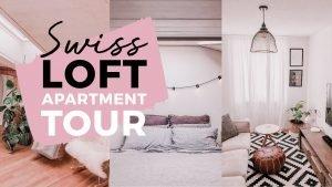 SWITZERLAND APARTMENT TOUR: Our Loft Minimalist/Boho Apartment