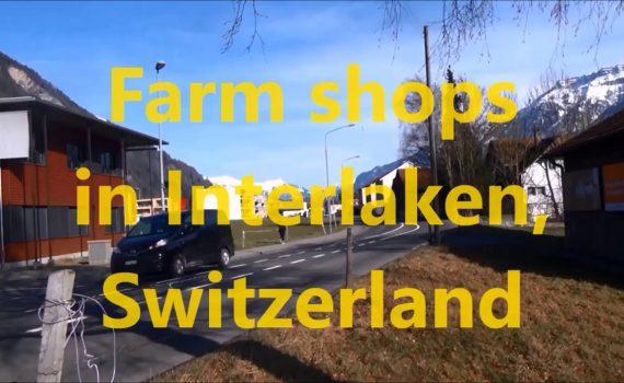 Visiting farm shops in Interlaken, Switzerland