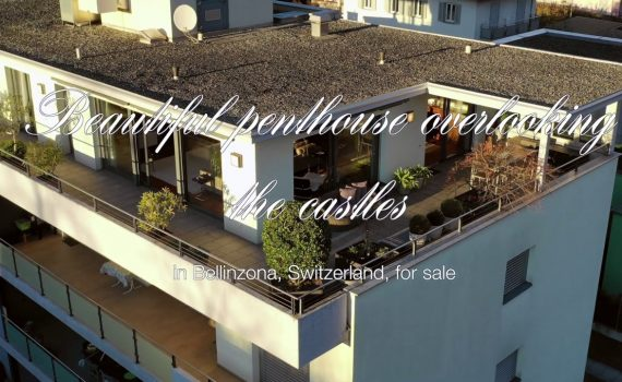 Beautiful penthouse apartment in Bellinzona, Switzerland, for sale ove...