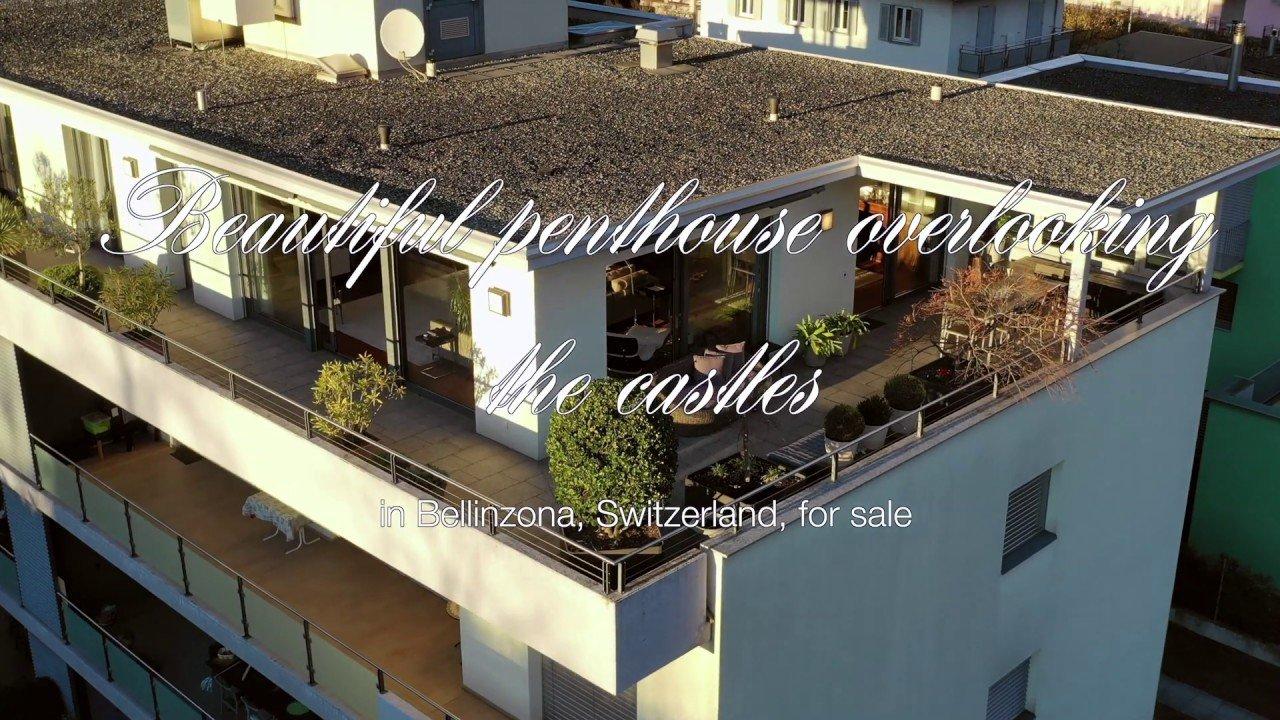 Beautiful penthouse apartment in Bellinzona, Switzerland, for sale ove...