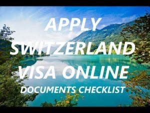 Apply Switzerland visa online   Documents checklist for Swiss visa