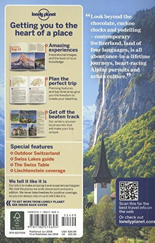 Lonely Planet Switzerland (Country Guide) - Lonely Planet Switzerland Country Guide
