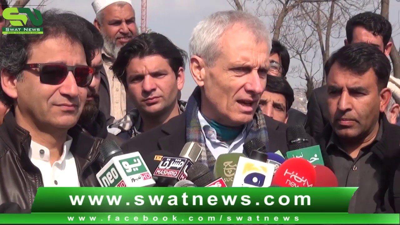 Switzerland ambassador and Tourism Minister Kp Visit Swat Historical P...