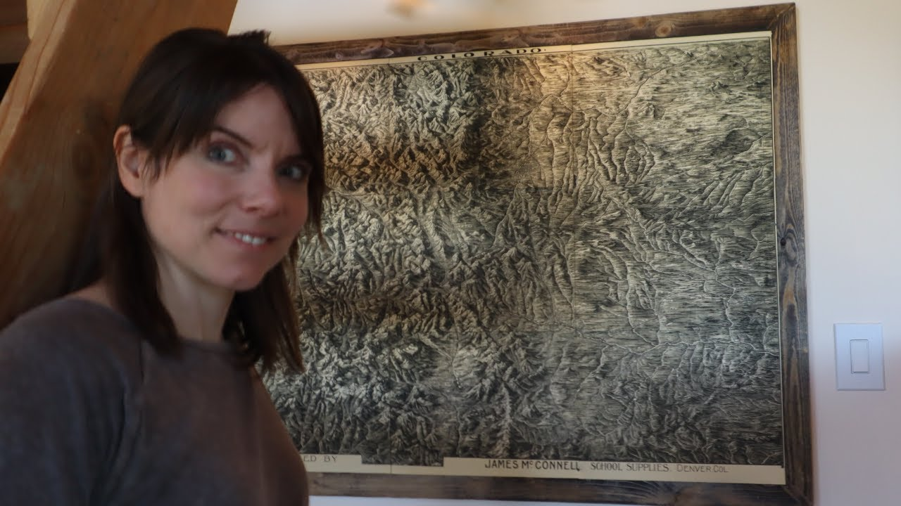 Antique Colorado Mountain Map Framing Project is a Surprise!