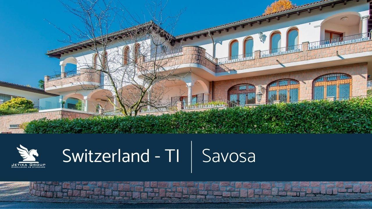SWITZERLAND - SAVOSA (TI) - SPLENDID PRESTIGIOUS VILLA WITH BREATHTAKI...