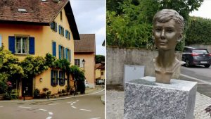 Visiting Audrey Hepburn's home in Tolochenaz, Switzerland