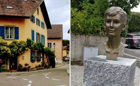 Visiting Audrey Hepburn's home in Tolochenaz, Switzerland