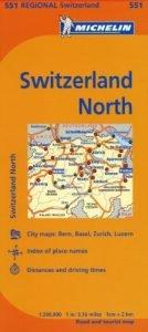 Michelin Switzerland: North Map 551 (Maps/Regional (Michelin)) - Michelin Switzerland North Map 551 MapsRegional Michelin 134x300