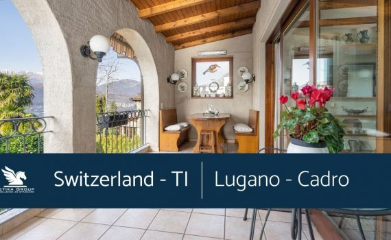 SWITZERLAND - CADRO (TI) - ROMANTIC TICINO-STYLE VILLA WITH GARDEN