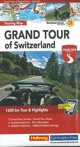 Switzerland the Grand Tour - Touring Map L2019: HKF.120 (English, Fren... - Switzerland the Grand Tour Touring Map L2019 HKF120 English