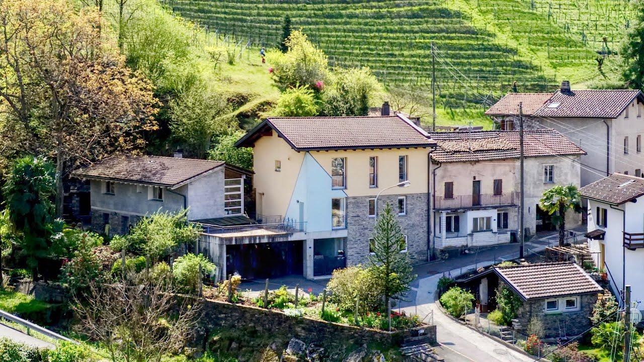 Beautiful Ticino style houses in Cadenazzo near Bellinzona, Ticino, Sw...