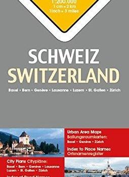 Switzerland Travel Map - 1:200,000 (English and German Edition) - Switzerland Travel Map 1200000 English and German Edition 255x350