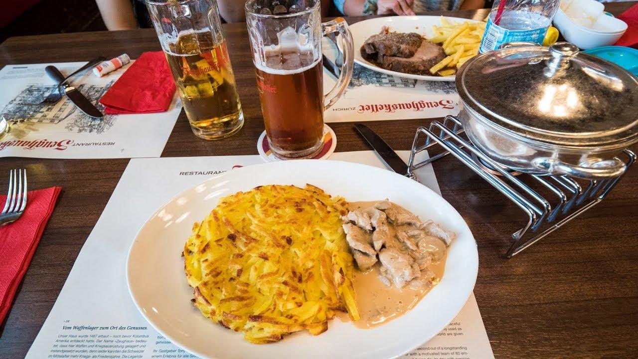 Swiss Food at Zeughauskeller - Most Legendary Restaurant in Zurich, Sw...