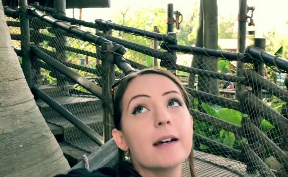 Visiting Swiss Family Robinson Treehouse over At Magic Kingdom