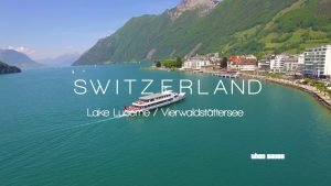 Switzerland - Lake Lucerne - Aerial Drone Video in 4K