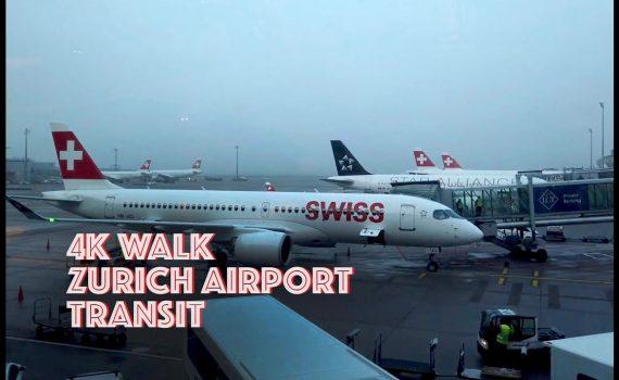 4K Airport Tour : Zurich Airport Virtual Tour Before COVID-19 Lockdown...