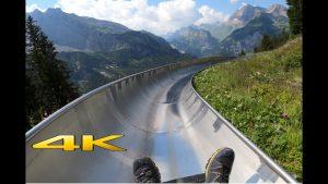 Mountain Coaster Oeschinensee Kandersteg Switzerland 4K 60p 🇨🇭