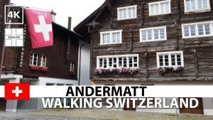 🇨🇭【4K】Andermatt • Walking in Switzerland