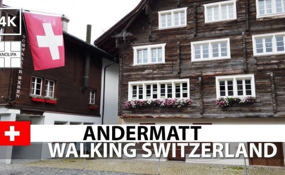 🇨🇭【4K】Andermatt • Walking in Switzerland