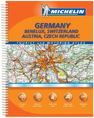 Michelin Germany/Benelux, Switzerland, Austria, Czech Republic Tourist... - Michelin GermanyBenelux Switzerland Austria Czech Republic Tourist