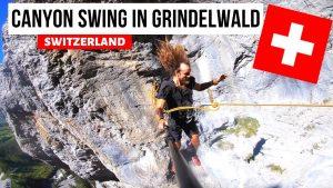 EPIC CANYON SWING IN GRINDEWALD, SWITZERLAND