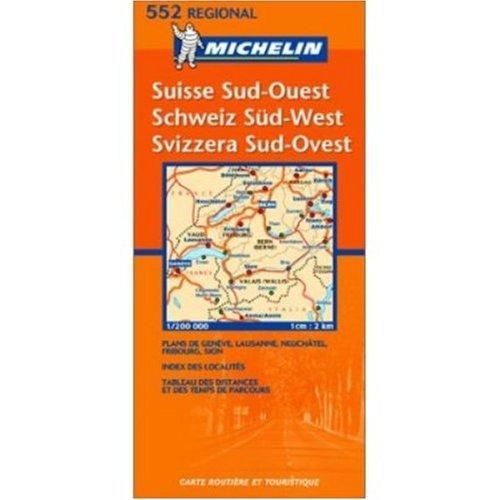 Michelin Map No. 552 Southeastern Switzerland : Geneva (Geneve) Bern A... - Michelin Map No 552 Southeastern Switzerland Geneva Geneve Bern