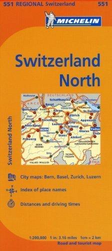Michelin Switzerland: North Map 551 (Maps/Regional (Michelin)) by Mich... - Michelin Switzerland North Map 551 MapsRegional Michelin by Mich