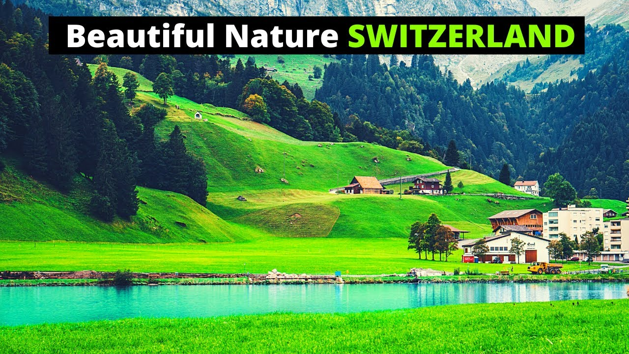 BEAUTIFUL Nature Places in SWITZERLAND | Arial DRONE  Video | Relaxing...