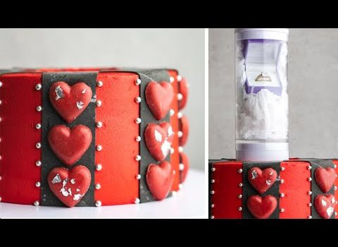 How to make a Punk style Valentine's Day Proposal Cake with the Su...