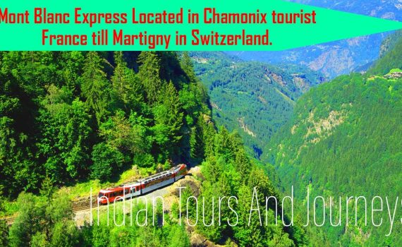 Mont Blanc Express Located in Chamonix tourist France till Martigny in...