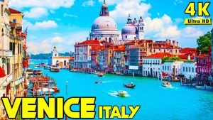 Venice Italy 4K Drone + Walking Tour 60fps Ultra HD Scenery Video HDR