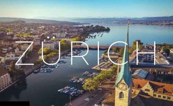 Zurich Switzerland 4k Drone Tour