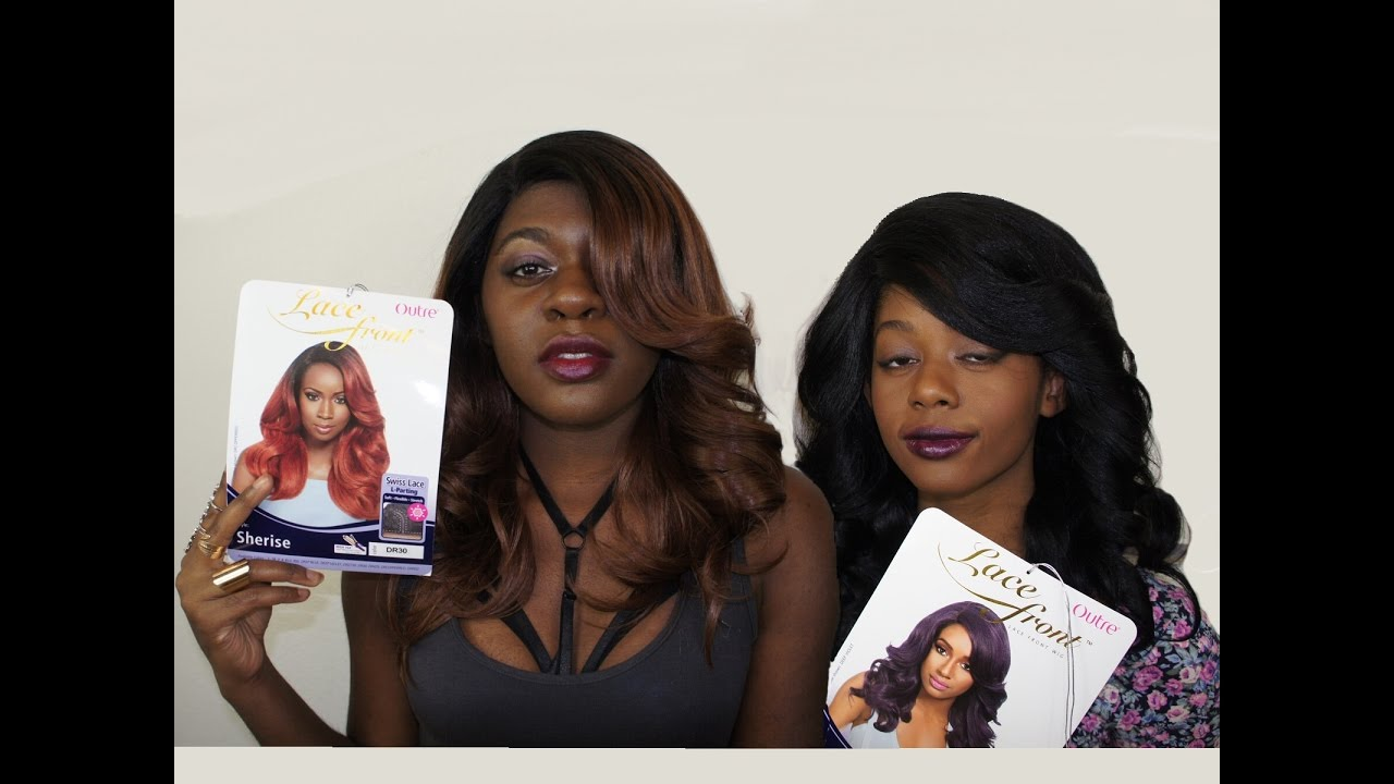 Fall Hair Review + Styling | OUTRE Synthetic L-Part Swiss Lace Front W...