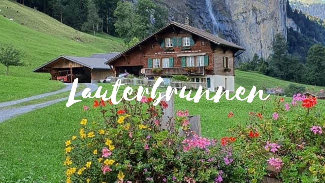 Lauterbrunnen , Switzerland's Most Beautiful Village | Swiss Valley ☘️