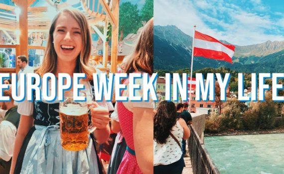 EUROPE WEEK IN MY LIFE | oktoberfest, venice, austria, & switzerla...