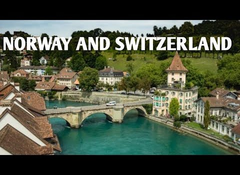 Narway amazing beautiful nature with Relaxing music! Switzerland in 8k...