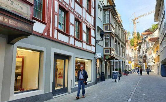 Switzerland, Walking through St  Gallen