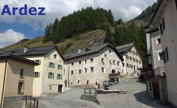 Ardez Village in Engadin, Switzerland