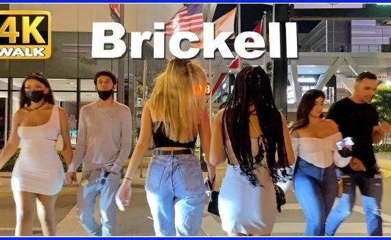 【4K】WALK Brickell MIAMI Florida 4k video USA Travel vlog HDR