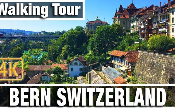 4K City Walks: Bern Switzerland Center  - Virtual Walk Walking Treadmi...
