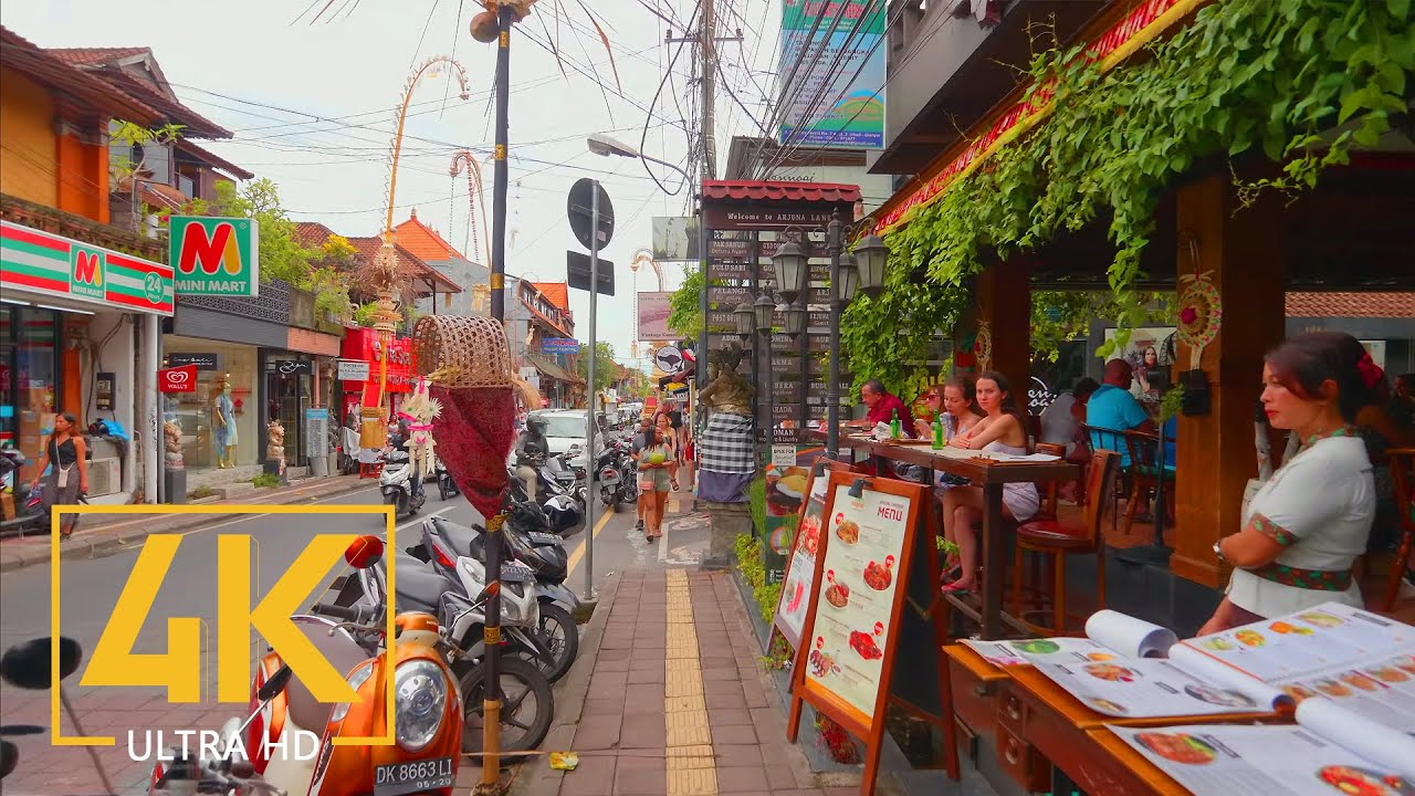 4K Virtual Walking Tour through Culture Center of Ubud, Bali, Indonesi...